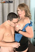 Catrina copulates her utmost friend's son