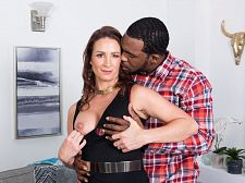 Ass-fucked by a large, dark-skinned cock