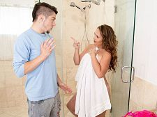 Brandii takes a shower with her son's foremost friend